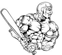 Baseball Knights Mascot Decal / Sticker 4