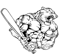 Baseball Cougars / Panthers Mascot Decal / Sticker 2