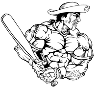 Baseball Patriots Mascot Decal / Sticker 2