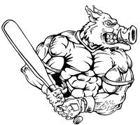 Baseball Razorbacks Mascots Decal / Sticker 2