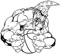 Wizards Basketball Mascot Decal / Sticker
