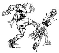 Soccer Bulldog Mascot Decal / Sticker 2