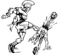 Soccer Paladins / Warriors Mascot Decal / Sticker 1
