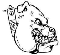 Bulldog Mascot Decal / Sticker 6