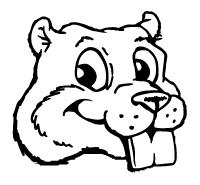Beavers Mascot Decal / Sticker