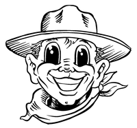 Cowboys Mascot Decal / Sticker 1