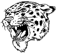 Leopards Mascot Decal / Sticker 4 ^This white rectangle is NOT part of the decal^