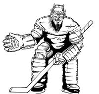 Hockey Devils Mascot Decal / Sticker 1