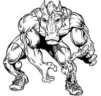 Wrestling Horse Mascot Decal / Sticker 2