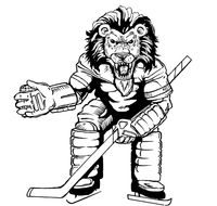 Hockey Lions Mascot Decal / Sticker 1