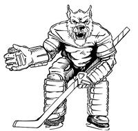 Hockey Wolves Mascot Decal / Sticker 1