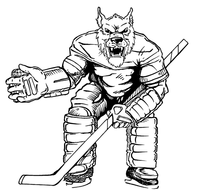 Hockey Wolves Mascot Decal / Sticker 1