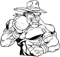 Shot Put Cowboys Mascot Decal / Sticker
