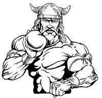 Track and Field Vikings Mascot Decal / Sticker 3