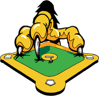 Baseball Eagles Claw Mascot Decal / Sticker
