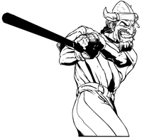 Vikings Baseball Mascot Decal / Sticker