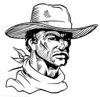 Cowboys Mascot Decal / Sticker 4