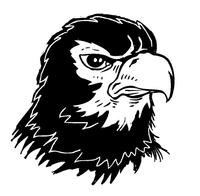 Hawks / Falcons Mascot Decal / Sticker 4