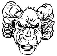 Rams Mascot Decal / Sticker 5