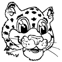 Leopards Mascot Decal / Sticker 1 ^This white rectangle is NOT part of the decal^