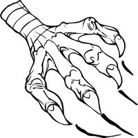 Baseball Eagles Claw Mascot Decal / Sticker