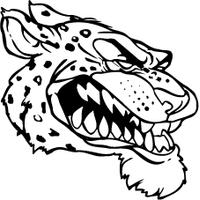 Jaguars Head Mascot Decal / Sticker