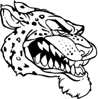 Cheetah Head Mascot Decal / Sticker