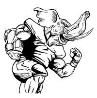 Football Elephants Mascot Decal / Sticker 02
