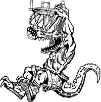 Basketball Gators Mascot Decal / Sticker