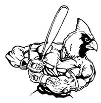 Baseball Cardinals Mascot Decal / Sticker 7