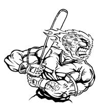 Baseball Comets Mascot Decal / Sticker 09