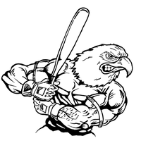 Baseball Eagles Mascot Decal / Sticker 7