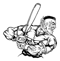 Baseball Braves / Indians / Chiefs Mascot Decal / Sticker ba6