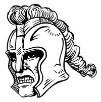Paladins / Warriors Mascot Decal / Sticker 2
