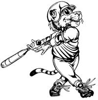 Baseball Tigers Mascot Decal / Sticker 5