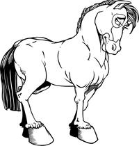 Horse Mascot Decal / Sticker