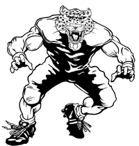 Football Leopards Mascot Decal / Sticker 3