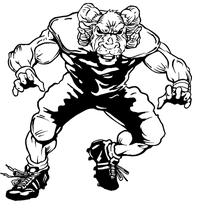 Football Rams Mascot Decal / Sticker 2