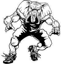 Football Elephants Mascot Decal / Sticker 03