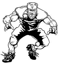 Football Frontiersman Mascot Decal / Sticker 2
