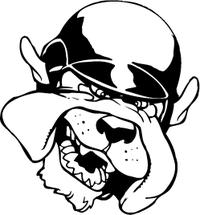 Baseball Bulldog Mascot Decal / Sticker