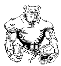 Football Bulldog Mascot Decal / Sticker 10