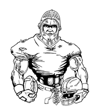 Football Knights Mascot Decal / Sticker 8