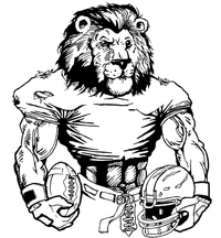 Football Lions Mascot Decal / Sticker 6