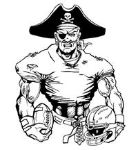 Football Pirates Mascot Decal / Sticker 5