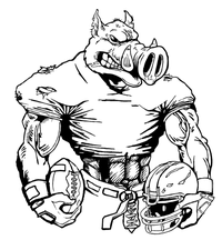 Football Razorbacks Mascots Decal / Sticker 3
