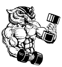 Weightlifting Wolverines / Badgers Mascot Decal / Sticker 2