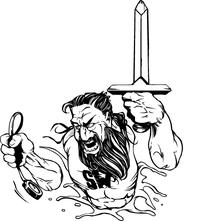Titans Sword Mascot Decal / Sticker