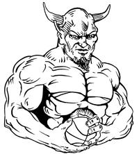 Basketball Devils Mascot Decal / Sticker 3