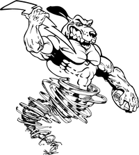 Dog Tornado Mascot Decal / Sticker